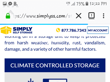 Simply Self Storage Storage Unit review 312108