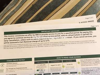 Waste Management - Increases rates, then threatens you with $75 charge if you cancel.
