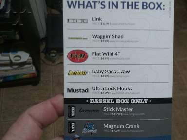Lucky Tackle Box - BassXL box was not what promised this month.