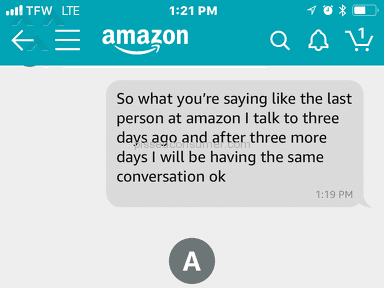 Amazon - Shitty  customers service
