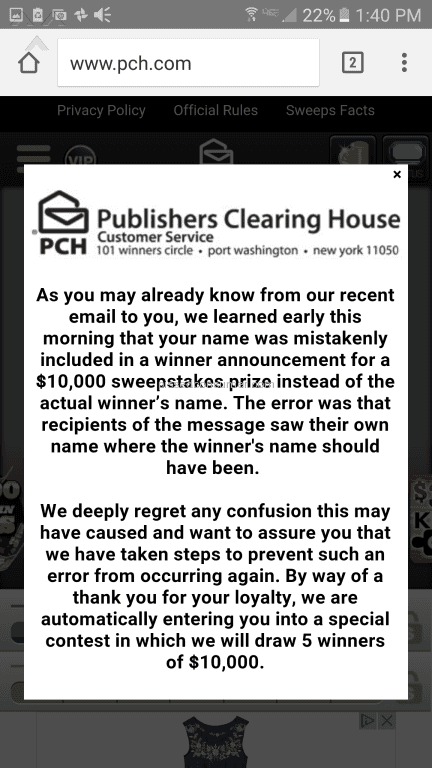 Publishers Clearing House   Sweepstakes Review From Sandy, Oregon