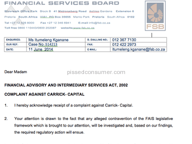 Carrick Wealth denying claims of illegal advice and being under investigation