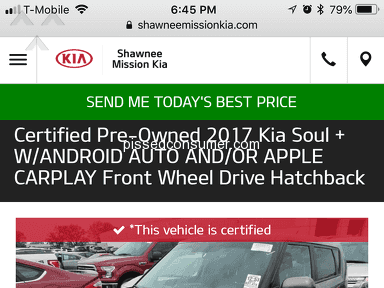 Shawnee Mission Kia - Good Car, Terrible Dealership