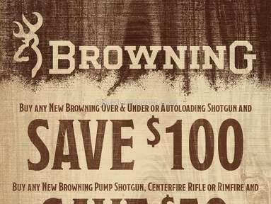 Browning - Rebate Review from Des Moines, Iowa