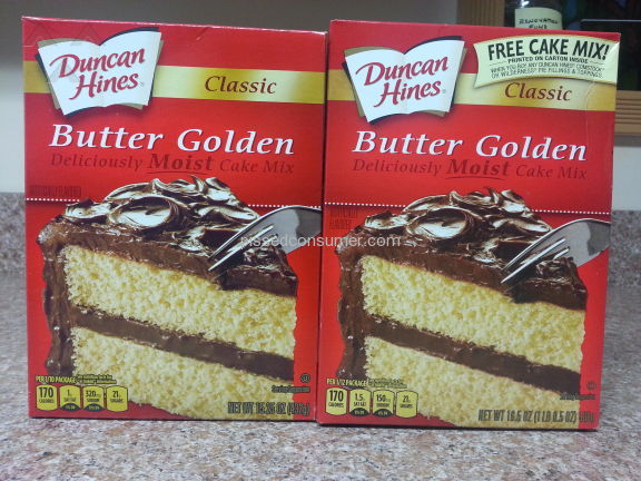 Duncan Hines Butter Golden Cake Mix