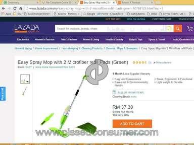 Lazada Malaysia Digilife Easy Spray Mop review 143240