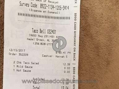 Taco Bell - Rancid and Scant Taco Salad