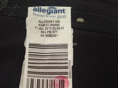 Allegiant Air Baggage Policy review 79355