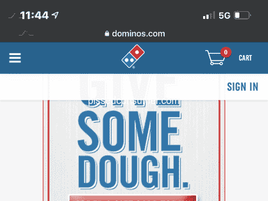 Dominos Pizza Fast Food review 1106542