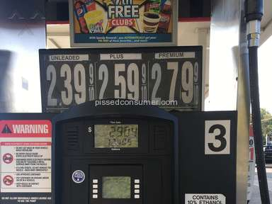 Speedway Gas Station - Price charged was more than what was shown on the pump