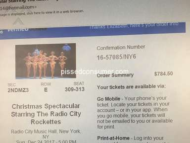 Ticketmaster Christmas Spectacular Show Ticket review 251474
