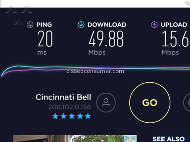 Cincinnati Bell - Horrible Customer Service / God-Awful Internet Speeds