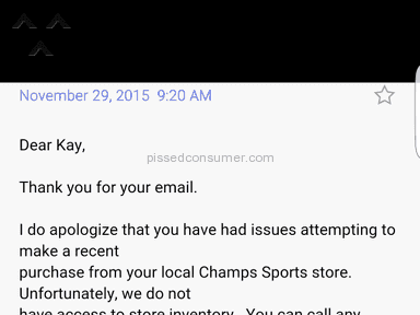 Champs Sports Footwear and Clothing review 100103