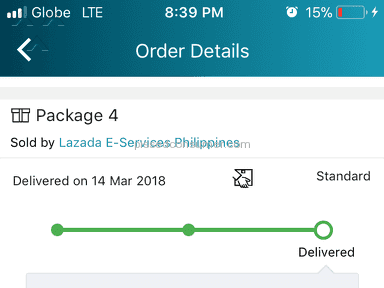 Lazada Philippines Shipping Service review 276932