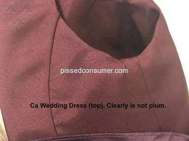 Ca Dresses - Fraud. Don't waste your time or money.