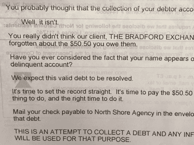 North Shore Agency - NASTY LETTER TO MY 82YR OLD GRANDMOTHER