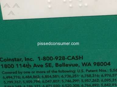Coinstar Gift Card Vending Machine review 317484
