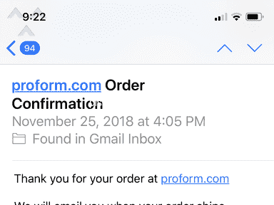 Proform - Ordered treadmill, received product tracking NEVER received the product OR refund