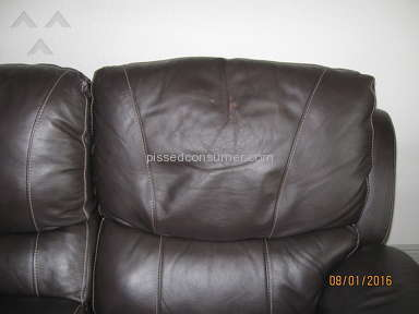 El Dorado Furniture Thomas Brown Leather Sofa review 157320