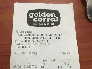 Golden Corral Brownie review 138787