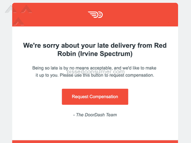 Doordash - Way late delivery