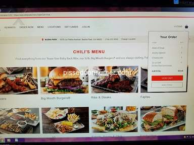 Chilis - Unacceptable Customer Service