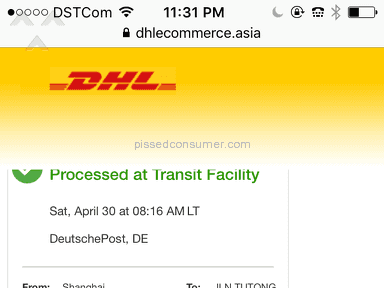 Dhl Delivery Service Review from Bandar Seri Begawan, Brunei And Muara