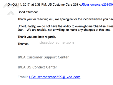 Ikea - Convoluted Resolution System, Zero Customer Service