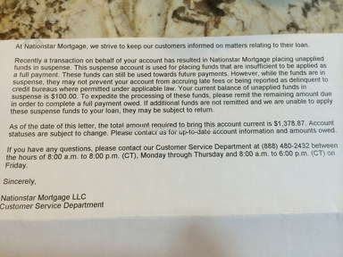 Nationstar Mortgage is the worse mortgage company we've had!