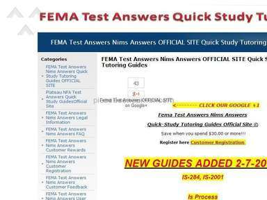 Fema Study - FEMA-STUDY.COM STOLE MY MONEY!!