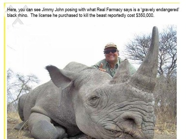 Jimmy Johns - Jimmy John murders endangered animals