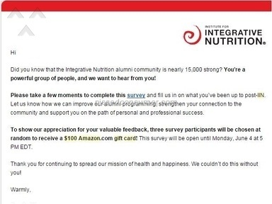 Institute For Integrative Nutrition Program review 79345