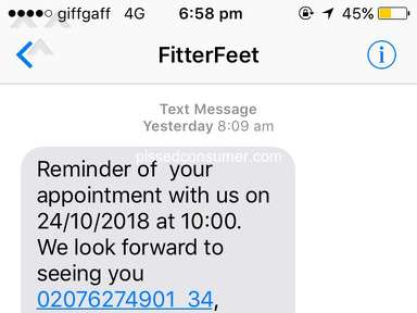Fitter Feet for Life - Offered free consultation, then charged £250