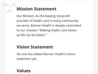 Banner Health - Not to happy