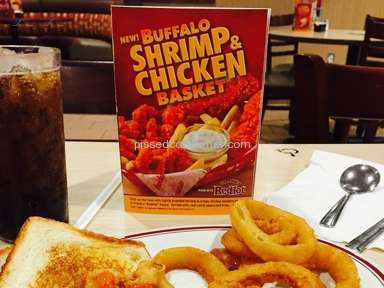Huddle House Buffalo Shrimp And Chicken Basket Review from Vernon, Texas
