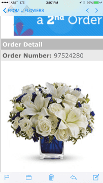 From You Flowers Clear Blue Skies Bouquet