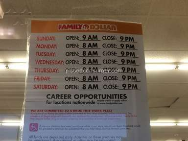 Family Dollar Customer Care review 142400