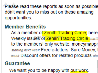 Money Map Press Zenith Trading Circle Subscription review 180864