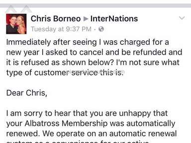 InterNations - Extremely unethical billing and worst customer service I've known