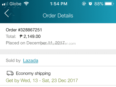 Lazada Philippines - Delayed order and poor customet service!