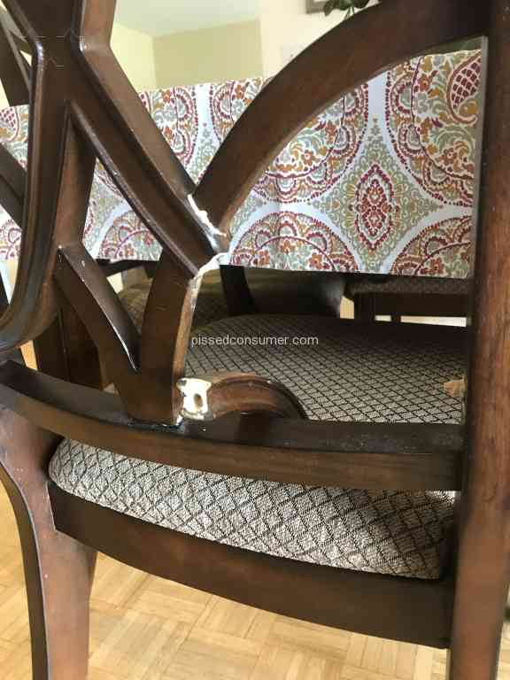 Art Van Furniture   Self Destructing Chairs!