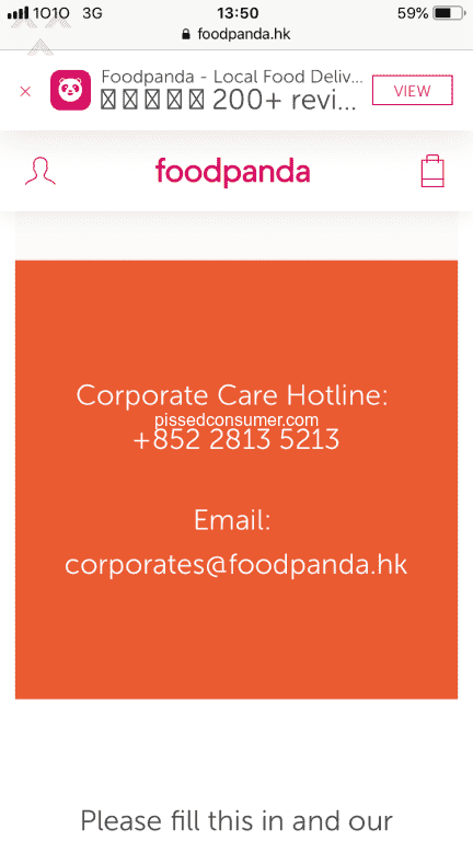 3 Foodpanda Hong Kong Customer Care Reviews and Complaints @ Pissed