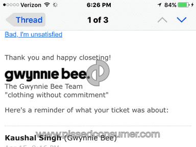 Gwynnie Bee Account review 127679