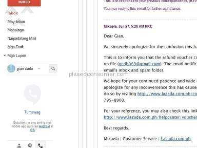 Lazada Philippines Delivery Service review 143040