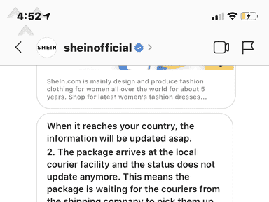Shein Shipping Service review 623613