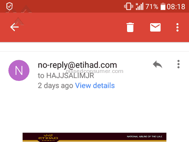 Etihad Airways - CHARGED TWOICE WELL I WAS BOOKING FLIGHT