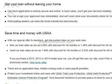 "USAA scamming peopel with ""teaser"" rates that no one every qualifies for."