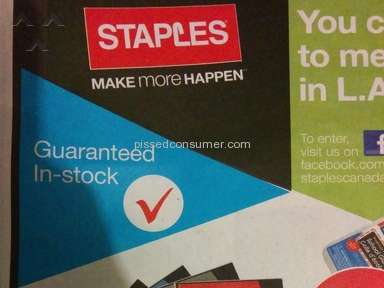 Staples - Amazing Offer? Not so fast...
