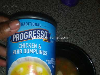 Progresso - Cans of soup was not full more broth then anything