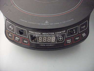 NuWave Oven - Induction cooktop disintregrated